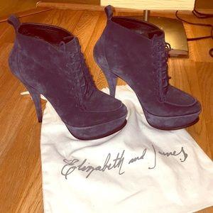 Elizabeth and James Suede High Heel Boots